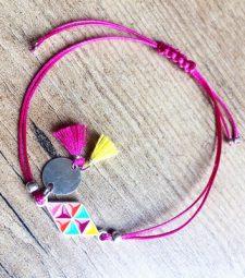 Bracelet Rose Losange