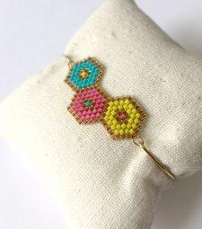 Bracelet hexagone tissé