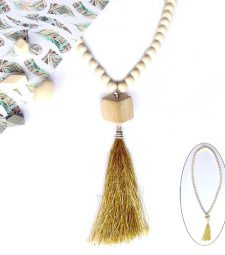 Collier Bois Moutarde