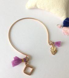 Bracelet violet rose gold