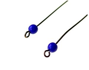 rondes bleu lapis sur tige